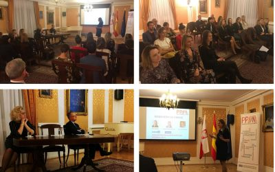 Presentation of our association at Embassy of the Republic of Poland in Spain.