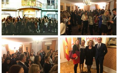 Cocktail for the members of the Polish Professionals in Madrid at Polish Embassy in Spain.