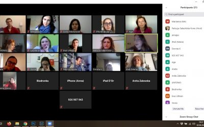 "Our first online meeting: ""How to manage time, work, relationships and emotions in lock-down?"""